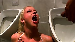 Peeing, 3some, Blonde, Blowjob, Drinking, Drunk