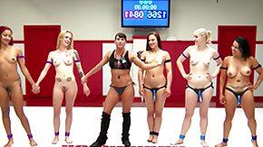 Wrestling, Blonde, Ebony, Fight, Kinky, MILF