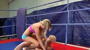 Wrestling, Beauty, Blonde, Boobs, Cute, Fight