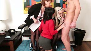 Humiliation, Blonde, Blowjob, CFNM, Dominatrix, Femdom