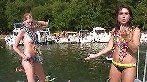 Flashing HD porn tube SpringBreakLife Video: Girls Flashing On The Lake