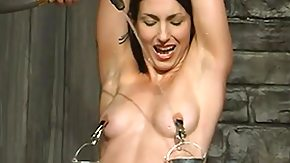 Nipples, BDSM, Brunette, Flexible, Nipples, Tied Up