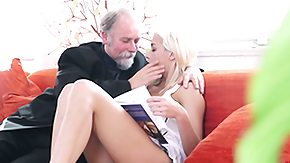 Old and Young, 18 19 Teens, Barely Legal, Blonde, Blowjob, Dad and Girl