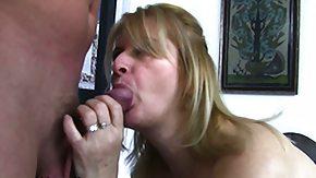 Stepmom, Blonde, Blowjob, Cumshot, European, Facial