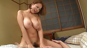MILF HD porn tube big breasted japanese cum gutter rides her man's cock