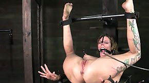 HD The sexy tension of the nipple clamps bring both pain and sexual pleasure for girls