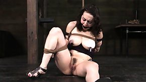 Nipple Clamp, BDSM, Big Tits, Boobs, Brunette, Caning
