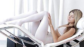 Gina Gerson, Babe, Blonde, Cute, Pantyhose, Posing