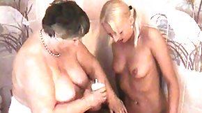 Granny Lesbian, BBW, Big Tits, Blonde, Boobs, Chubby