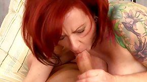 Hairy Redhead, American, Bend Over, Big Cock, Big Pussy, Big Tits