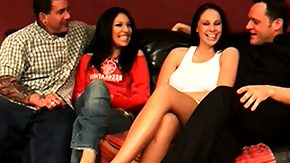 Swingers, 4some, Adorable, Blowjob, Brunette, Foursome