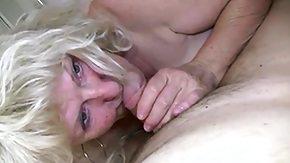 Grandma, BBW, Big Tits, Blonde, Blowjob, Boobs