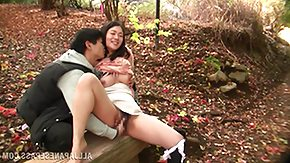 Forest, Asian, Babe, Blowjob, Couple, Fingering