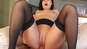 Plug, Blowjob, Brunette, Hardcore, Leggings, Stockings