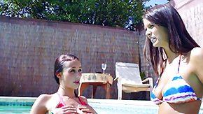 Bikini, Babe, Bikini, Brunette, Outdoor
