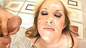 Worship, Big Cock, Blonde, Blowjob, Cum Covered, Facial