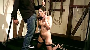 Cage, Babe, Ball Licking, BDSM, Blindfolded, Blowjob