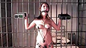 Prison, Babe, BDSM, Bound, Brunette, Hogtied