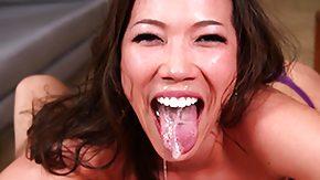 Asian, Asian, Babe, Brunette, Choking, Deepthroat
