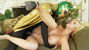 Courtney Taylor, Babe, Big Tits, Blonde, Kissing, Mask