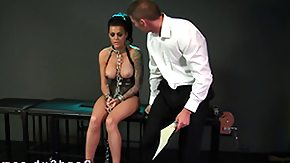 Dungeon, BDSM, Big Tits, Boobs, Brunette, Chained