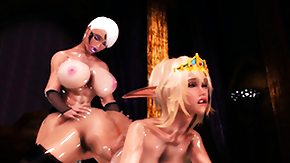 3d HD porn tube Hentai 3d shemale gets tittyfucked by golden-haired elf girl