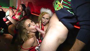 Xmas HD porn tube boozed xmas party full of hot naked babes