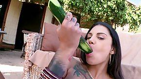 Bonnie Rotten, Anal, Blowjob, Brunette, Outdoor, Pissing