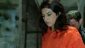Free French Anal HD porn Lou Charmelle hot French honey who gets caught with drugs no passport in foreign country Cruel officers lock her up in naughty cage convince Lou to absorb
