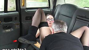 Taxi, Amateur, Big Tits, Boobs, Brunette, Car