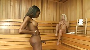 Sauna, Blowjob, Deepthroat, Interracial, Ladyboy, Sauna