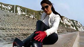 Gloves, Boots, Brunette, Feet, Fetish, Gloves