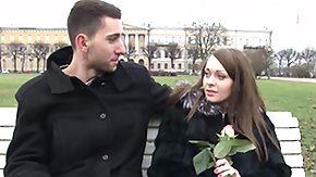 Russian Teen, Bend Over, Big Tits, Blowjob, Boobs, Brunette