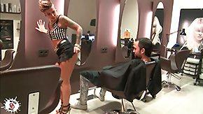 Hairdresser, Big Cock, Blowjob, Cash, Cumshot, Deepthroat