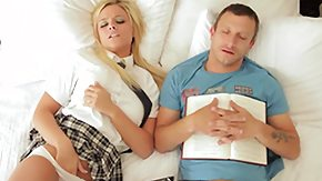 Alexis Monroe, Babe, Blonde, Blowjob, Clothed, Coed