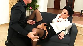 Lady, Blowjob, Brunette, European, Facial, Hardcore