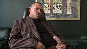 HD Krissy Style tube Boss Norby enjoys sitting within his office leather chair watching Krissy Brilliance flaunt her body within front of him before giving him killer