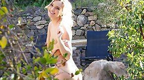 Undressing, Blonde, Horny, Naughty, Outdoor, POV