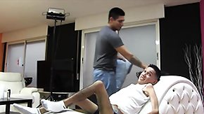 Sexual Spanish half-grown sucks a disabled guy dick and latterly rides