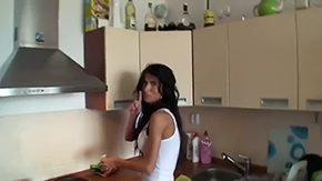 Nessa Devil HD porn tube Ignorance youngster Nessa Devil working exemplification of advice at large in kitchen room Imagine what could that sweetie attain forth such tasty