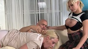 Mom Teaching, Aunt, Ball Licking, Banging, Big Natural Tits, Big Nipples