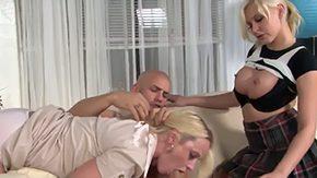 Mom Teach Her, Aunt, Ball Licking, Banging, Big Natural Tits, Big Nipples