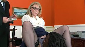 Nathan Threat, 10 Inch, Aged, Aunt, Bend Over, Big Black Cock