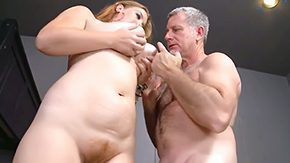Old Man, Aged, Ball Licking, BBW, Big Tits, Blowjob