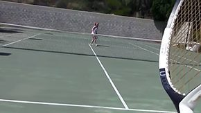 HD Maryjane Mayhem Sex Tube Bottom playing with his girlfriend at intervals tennis for bet which is clearly very deep throat blow job hardcore anal fucking Take glimpse who