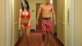 Swimsuit, Bed, Bend Over, Big Cock, Big Tits, Bikini