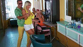 Evita Pozzi, Aunt, Big Cock, Big Tits, Blonde, Blowjob