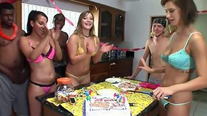 HD Aurora Snow tube Its Shooters birthday this week girlies wanted to surprise him only way they could with Fuck Team B day munch Brooke Isis Aurora got some of friends come by