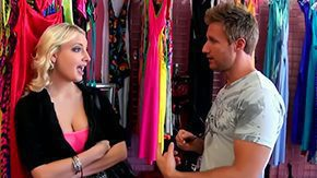 HD Cleavage Sex Tube Lingerie shop couldn't stay unnoticed by Levi our cunt hunter cleavage amidst her ample boobs was like beeping green spot on his radar Boy had to fuck