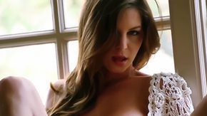 HD Amber Sym Sex Tube Attractive Amber Sym masturbates at morning coz she hungers to be pleased full day long